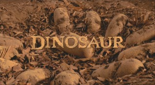 "The egg in the center of the title screen houses the dinosaur at the center of ""Dinosaur."""