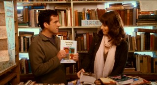 "Advice columnist Dan Burns (Steve Carell) has quite the reading recommendation for Marie (Juliette Binoche), the woman he's just met in the Tackle & Book Shop: ""Everyone Poops"" by Taro Gomi."