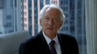 How is it that every shot that Donald Sutherland is in looks like the most dramatic point in a very serious movie?