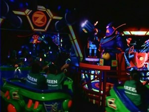 Buzz Lightyear Astro Blasters is one of the youngest Disneyland attractions covered in this DVD set.