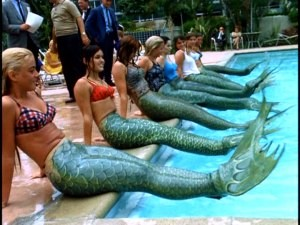 "These young ladies aren't auditioning for a live-action Little Mermaid show or even ""Splash Three."" They're vying for employment as mermaids on the 20,000 Leagues Under the Sea submarine ride."