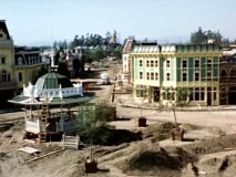 "Step by step, Disneyland's Town Square is built in the time-lapse footage of ""Disneyland Under Construction."""