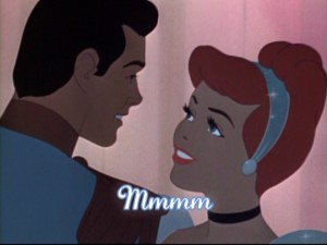 Cinderella thinks Prince Charming is tasty.