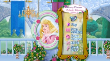 "Aurora appears in the Main Menu, but outside of brief cameos in the Sing Along theme and ""It's Not Just Make Believe"", she is absent from this disc."