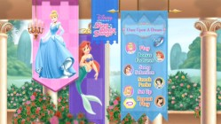 Disney Princess Sing Along Songs DVD Main Menu