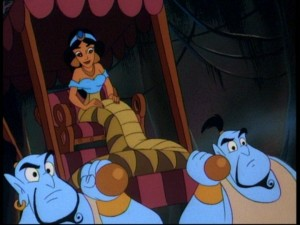 Genie ain't never had a snake like Jasmine!