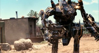 This mechanized armor suit figures largely in the action climax that some have deemed the most conventional part of the film.