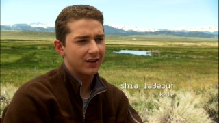 "Against a colorful rural backdrop, Shia LaBeouf comments on ""The Making of 'Disturbia'."""