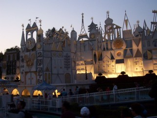 "Dusk falls upon ""it's a small world."""