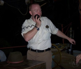 Josh was our first and best Jungle Cruise skipper. Despite the red eyes, he was a pretty nice and charming chap.