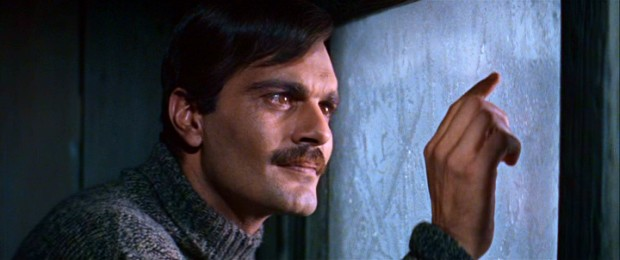 Poet-doctor Yuri Zhivago (Omar Sharif) finds utmost joy in pointing at a frosty window and observing its snowflakes melting.