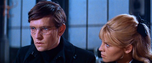 Lara (Julie Christie) listens as her fianc� Pasha (Tom Courtenay) explains his passions for both her and the communist revolution.