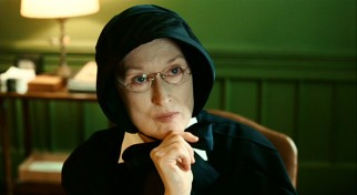 Meryl Streep earned an astonishing fifteenth Oscar nomination for her turn as Sr. Aloysius Beauvier, the stern bonnet-wearing headmistress of St. Nicholas.