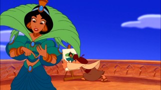 "Princess Jasmine decides she's ""More Than a Peacock Princess"", an epiphany that upsets her portrait painter's work."