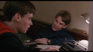 That's a very young Ethan Hawke on the right.