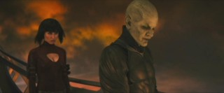 Lord Piccolo (James Marsters) engages in some traditional villain scheming with his mostly mute sidekick, Mai (Eriko Tamura).