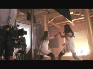 "The ""Making of a Scene"" special from Fox Movie Channel shows Jamie Chung and her carefully-shot double filming a fight sequence."