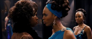 "Effie (Jennifer Hudson) and Deena (Beyonce Knowles) face off in ""It's All Over."""