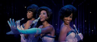 "The Dreams -- Effie, Deena, and Lorrell (left to right) -- sing their signature song, ""Dreamgirls""!"