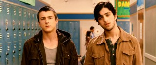 The relentless bullies of the film: Filkins (Alex Frost) and Ronnie (Josh Peck) strike a presence in the school locker hallway.