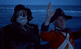 This sweaty-palmed naval officer never had a chance against The Scarecrow in this blue-tinted shore scene.