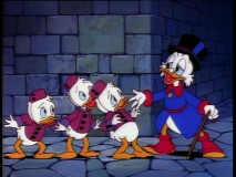 "Scrooge and his boys run a haunted ""Hotel Strangeduck."""