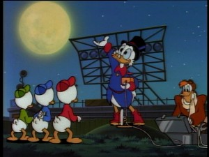 Scrooge commences plans to deal with Magica's multiplied shadows.
