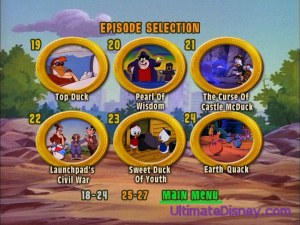 A page from Disc 3's Episode Selection menu