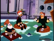 "Doofus, Gyro, and Launchpad unite over their unfortunate underwater sentence in ""Aqua Ducks."""