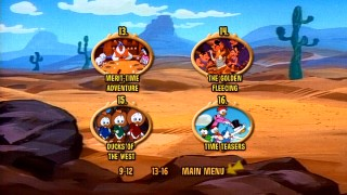 Disc 2's menus, including this Episode Selection page, opt for a desert motif.