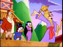 Scrooge and Launchpad soon find that the country of Tupei is not the most hospitable of places.