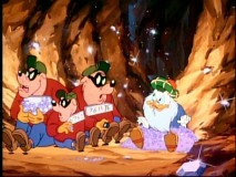 Flintheart does not take kindly to the company he resorts to scheming with (the Beagle Boys).