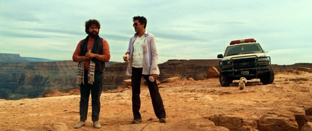 Driving west in a stolen border patrol vehicle, Ethan (Zach Galifianakis) and Peter (Robert Downey Jr.) make a stop at the Grand Canyon, where fears are faced and secrets shared.