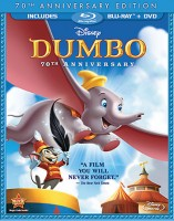 Dumbo: 70th Anniversary Edition Blu-ray + DVD combo pack cover art