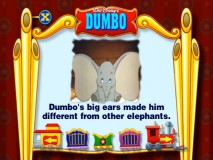 "This Dumbo storybook appears in the ""Games & Activities"" section of the DVD in two different versions."