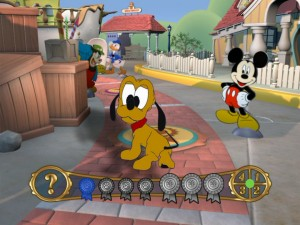 Pluto waits in Toontown among his pals for you to virtually spin.