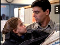 "Gary keeps both young car hit victim Amanda (Mae Whitman) and his special newspaper safe in ""The Choice."""