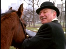 This crazy old guy (Philip Bosco) thinks he's 19th century sheriff Bat Masterson, an argument aided by his transportational horse.