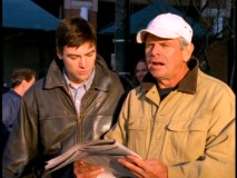 Like son, like father... Gary's Dad (William Devane) gets into newspaper-aided community service.