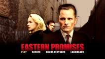 The Eastern Promises DVD's static main menu certainly isn't the most evocative.