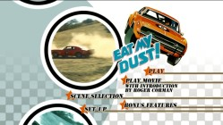 Some of the titular dust is raised on the main menu's montage rotation.