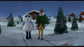 Before he was stop-motion-animated, Leon the Snowman was just a woman in a foam suit, as this filmed version of an existing scene illustrates.