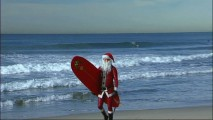 "Vince Ray carries out his favorite holiday tradition, being the Surfing Santa of South Bay, in ""Santa Mania."""