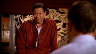 Though he puts on a heavy Asian air as Chinatown acupuncturist, Dr. Chen (James Saito) is much more articulate and less Miyagian as Eli's confidant and advisor.