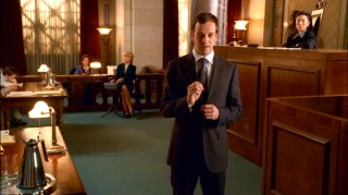 Eli makes a point in one of the show's many courtroom scenes.