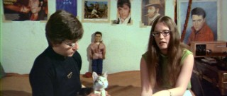 Two girls and a cat whose walls are covered with Elvis pics are among the quirky fans interviewed in the theatrical cut and dropped for the Special Edition.