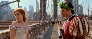 Giselle ponders her future on her very first date with Prince Edward, who's amusingly decked in New York tourist gear.