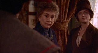 Stuffy widow Mrs. Fisher (Joan Plowright) takes instant offense to the idea that she is old enough to have known John Keats.