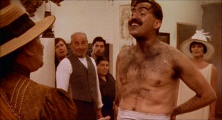 Alfred Molina has never been one to shy from showing off his chiseled chest, even when soot draws the eyes in instead of robotic tentacles calling them away.