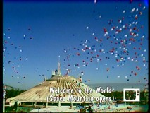 The patriotic balloon-filled opening of Space Mountain at Walt Disney World is one of the occurrences commemorated in the 1975 Disney Studio Album.